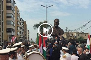 Martyr Soleimani Monument Unveiled in Beirut (+Video)