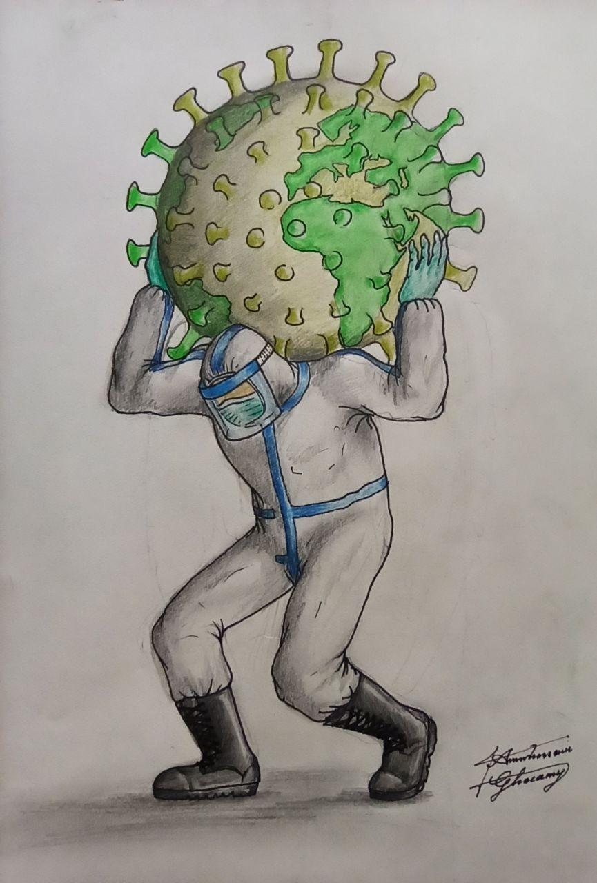 نقاشی از کورنا